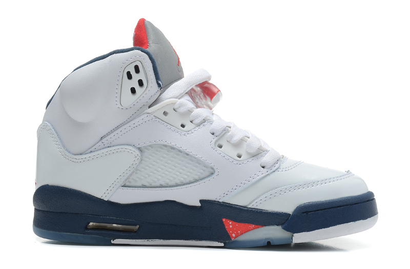 Air Jordans 5 Retro White Varsity Red-Obsidian For Sale