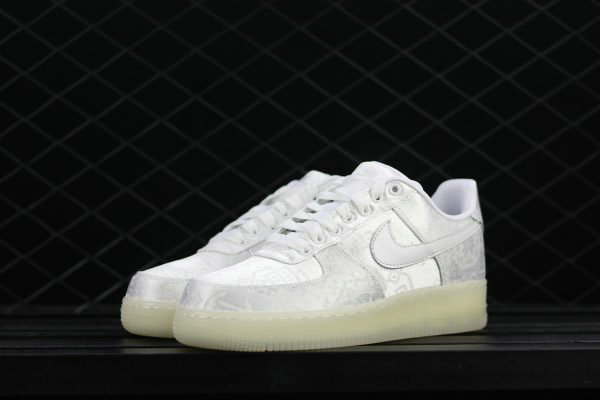Cheap CLOT x Nike Air Force 1 Premium White-White-White AO9286-100