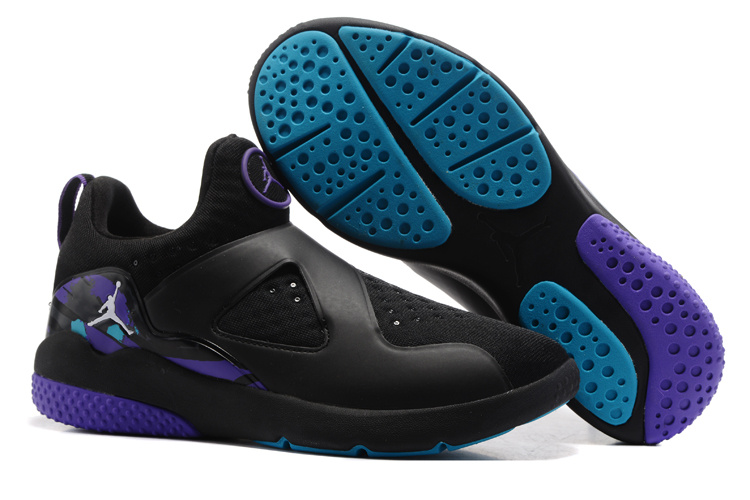 Cheap Air Jordan 8 Trainer Essential Black Purple Blue For Sale