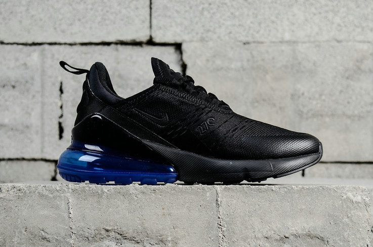 New 2018 Air Max Cheap x Nike Air Max 270 Black Photo Blue AH8050 ... 56afbd82b
