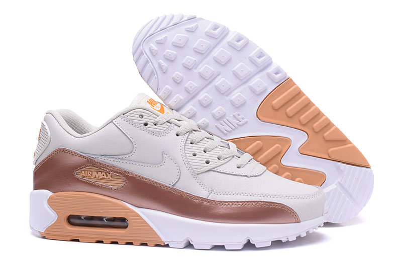 New 2018 Air Max Cheap x Nike Air Max 90 Mens Luxury gold color cream white