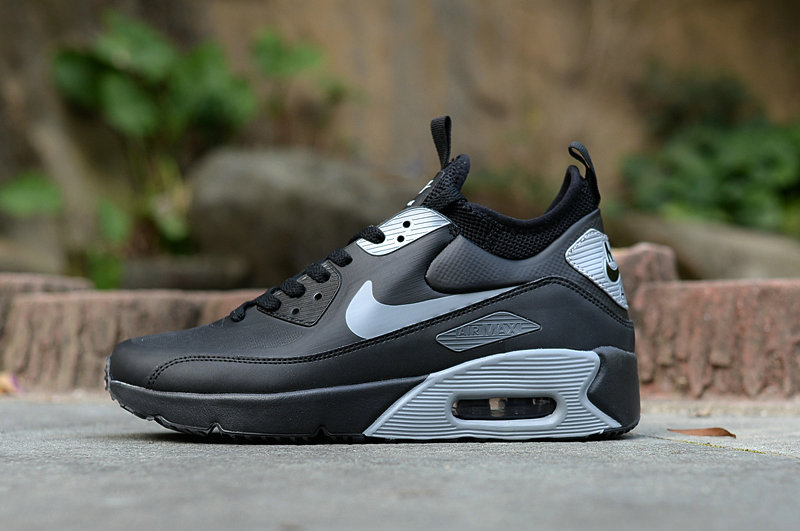 0c527bc3b599d9 New 2018 Air Max Cheap x Nike Air Max 90 Ultra Mid Winter SE Mens Grey