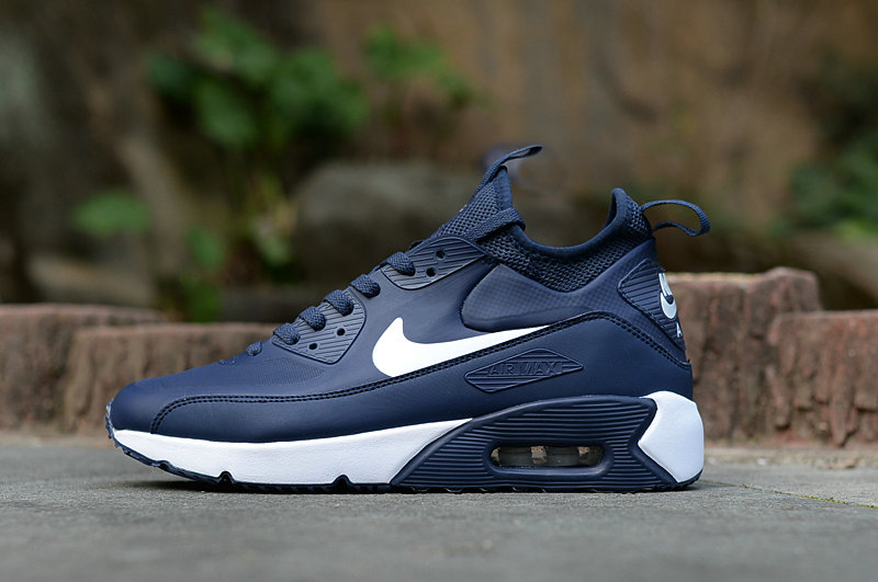 85c80385aae2ae New 2018 Air Max Cheap x Nike Air Max 90 Ultra Mid Winter SE Mens Navy
