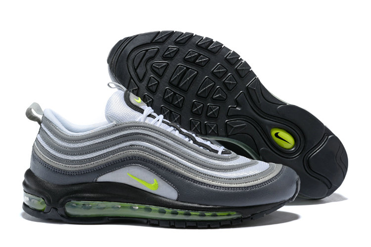 New 2018 Air Max Cheap x Nike Air Max 97 Dark Grey Volt-Stealth-Pure Platinum 921733-003