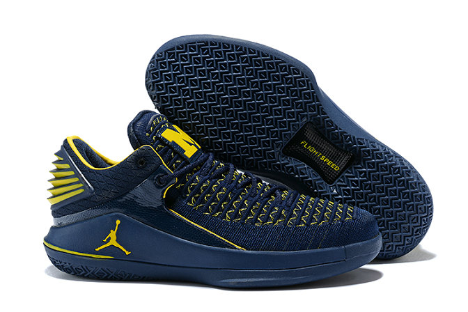 New 2018 Air Jordans Cheap x Air Jordan XXX2 Navy Blue Yellow