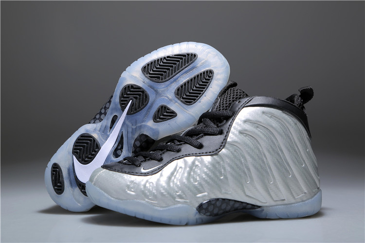 Cheap Kids Nike Air Foamposite One All Star Metallic Silver Black For Sale