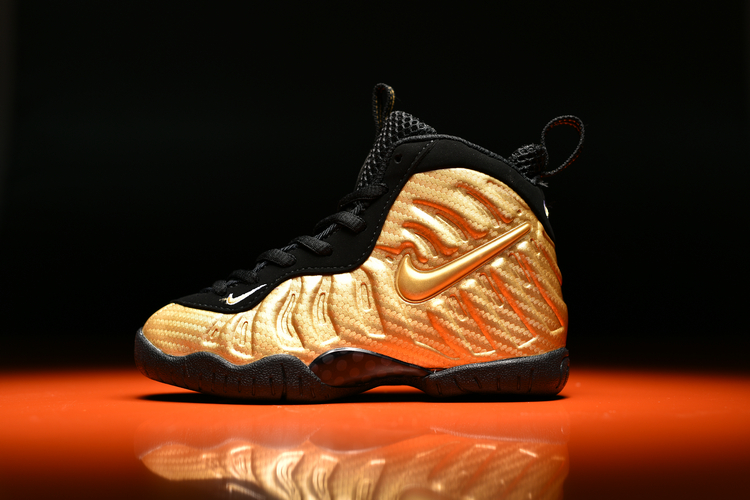 Cheap Kids Nike Air Foamposite Pro Metallic Gold For Sale