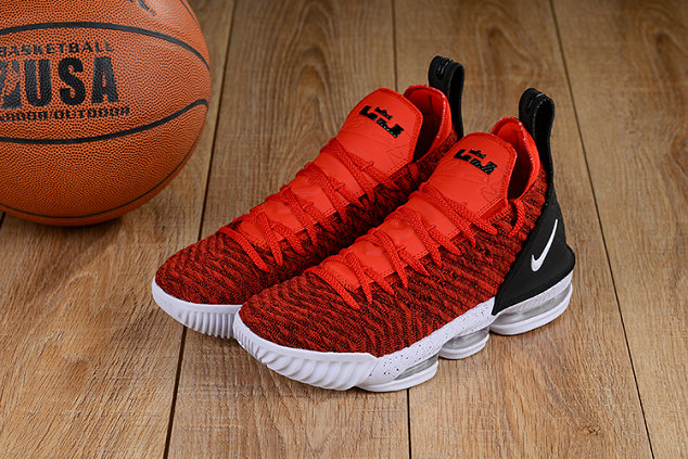 Cheap Lebron 16 Shoes University Red Black