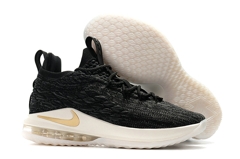 lebron 15 white and gold