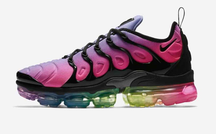 Cheap Mens Nike Air VaporMax Plus Be True Purple Rainbow