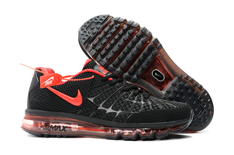 Cheap Newest Nike Air Max 2017 Mens Black Fire Red