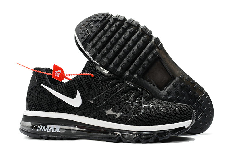 Cheap Newest Nike Air Max 2017 Mens Black White