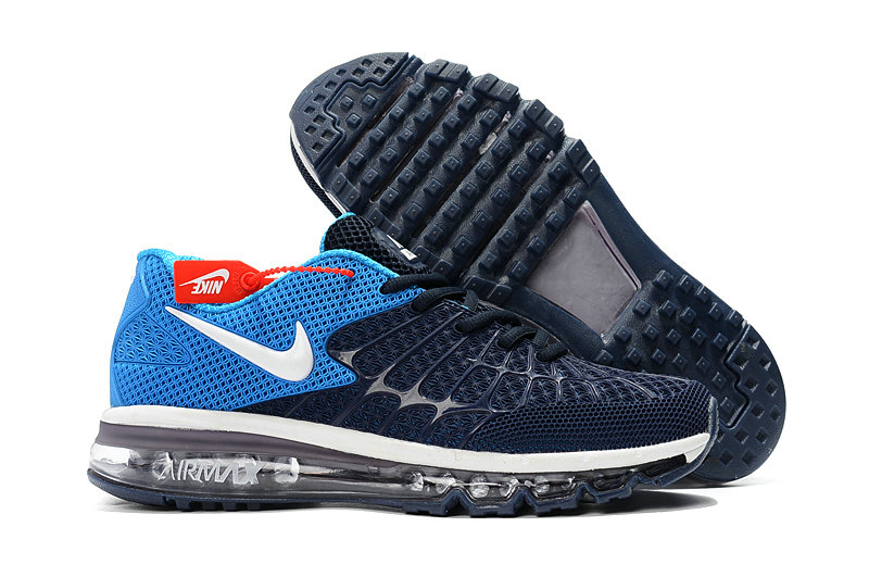 Cheap Newest Nike Air Max 2017 Mens Navy Baby Blue