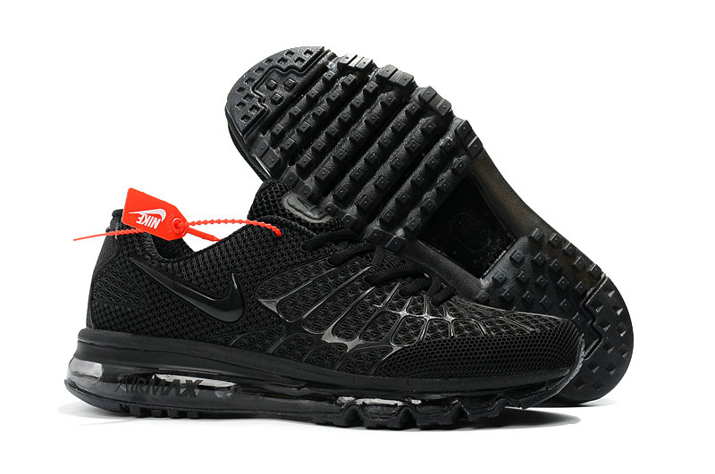Cheap Newest Nike Air Max 2017 Mens Triple Black