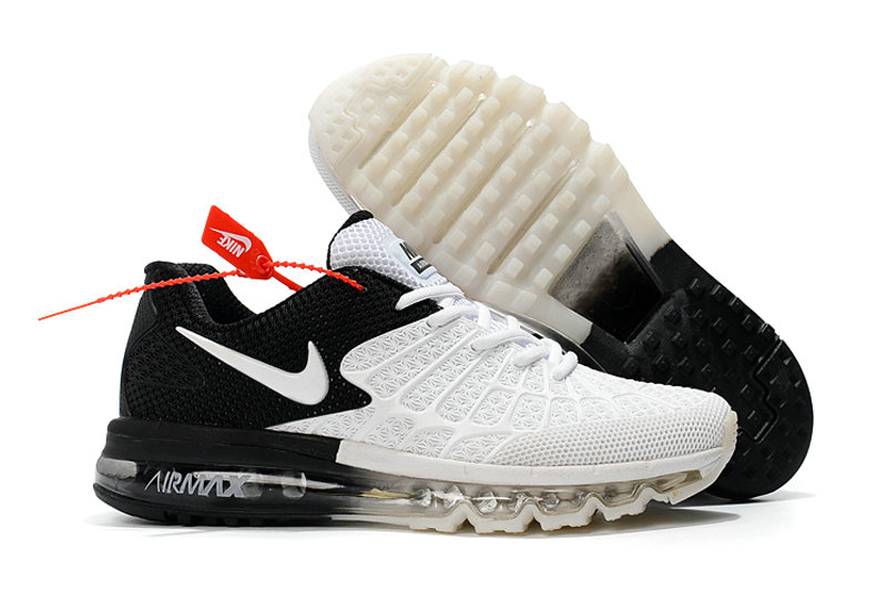 Cheap Newest Nike Air Max 2017 Mens White Black