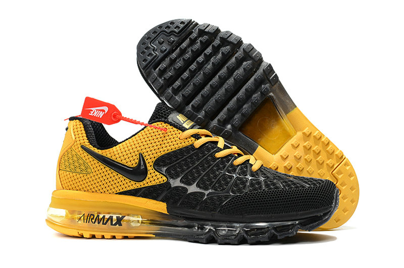 Cheap Newest Nike Air Max 2017 Mens Yellow Black