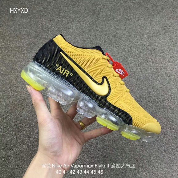 Cheap Nike 2018 Nike Air 2018 Flyknit Yellow Black Running