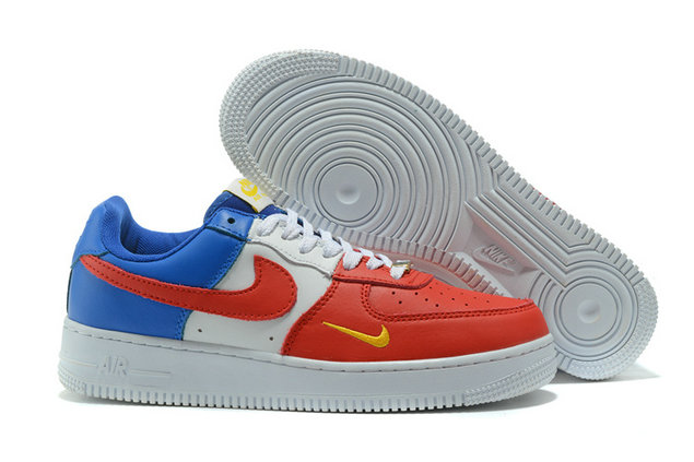 Cheap Nike AF1 Mens Nike Air Force One Blue Red White Yellow