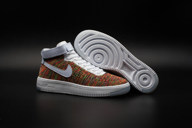 New 2018 Nike AF1 Cheap x Nike Air Force One Ultra Flyknit Mid Multicolor