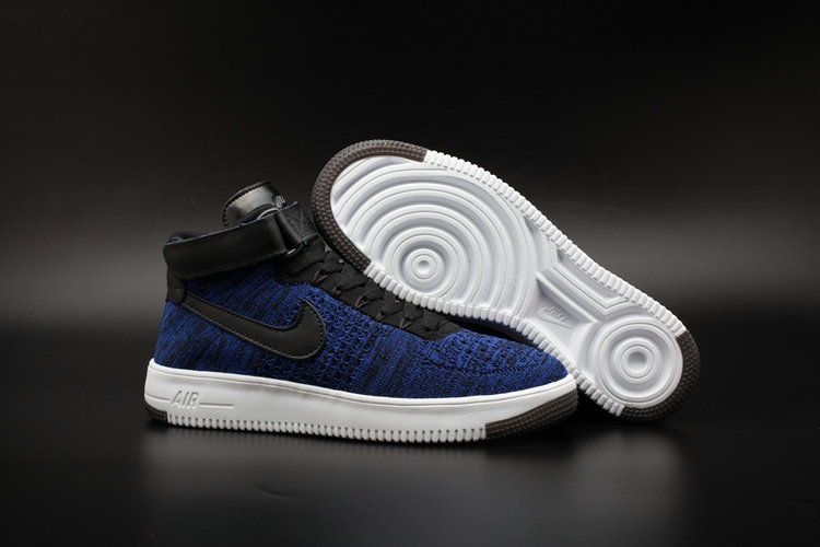 New 2018 Nike AF1 Cheap x Nike Air Force One Ultra Flyknit Mid Obsidian