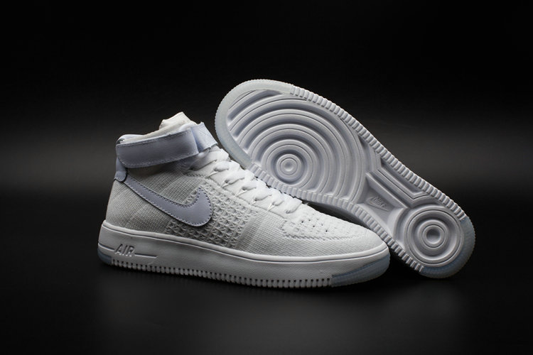 New 2018 Nike AF1 Cheap x Nike Air Force One Ultra Flyknit Mid White