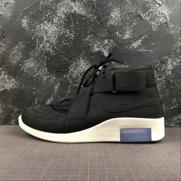 Cheap Nike Air Fear of God 180 Black-Black-Fossil AT8087-002