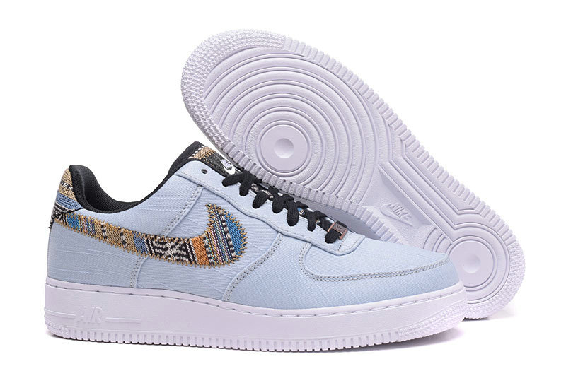 Cheap Nike Air Force 1 07 LV8 LT Low White Light Blue Orange Blue Black