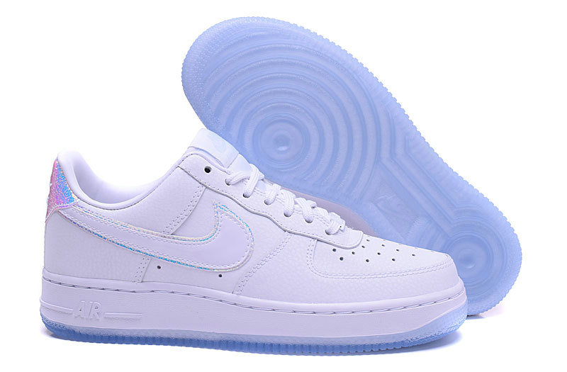 Cheap Nike Air Force 1 low 07 AF1 PRM Mens White Light Blue