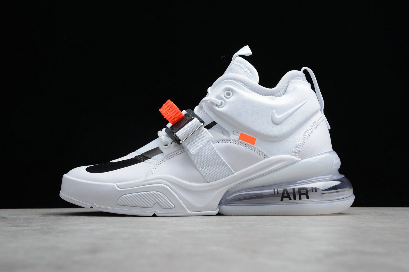 Cheap Nike Air Force 270 AH6772-010 White Black Noir