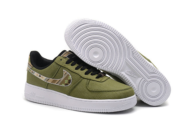 Cheap Nike Air Force One Nike AF1 07 Mens Army Green Black Gold White