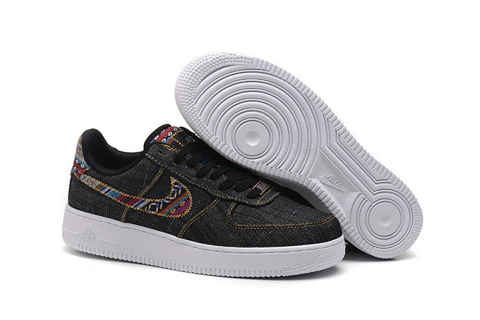 Cheap Nike Air Force One Nike AF1 07 Mens Black Gold White