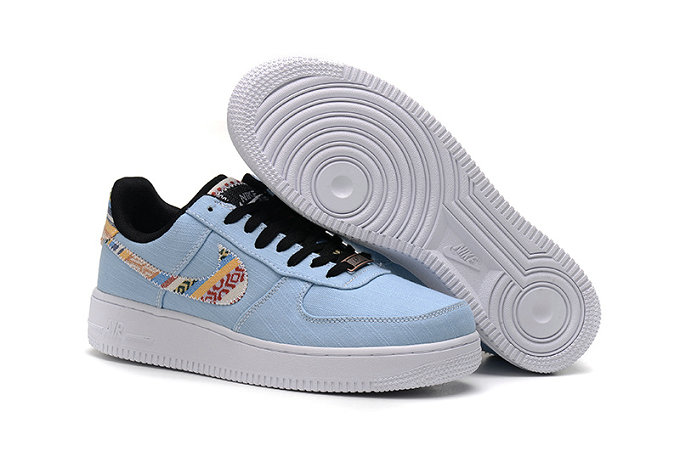 Cheap Nike Air Force One Nike AF1 07 Mens Light Blue White