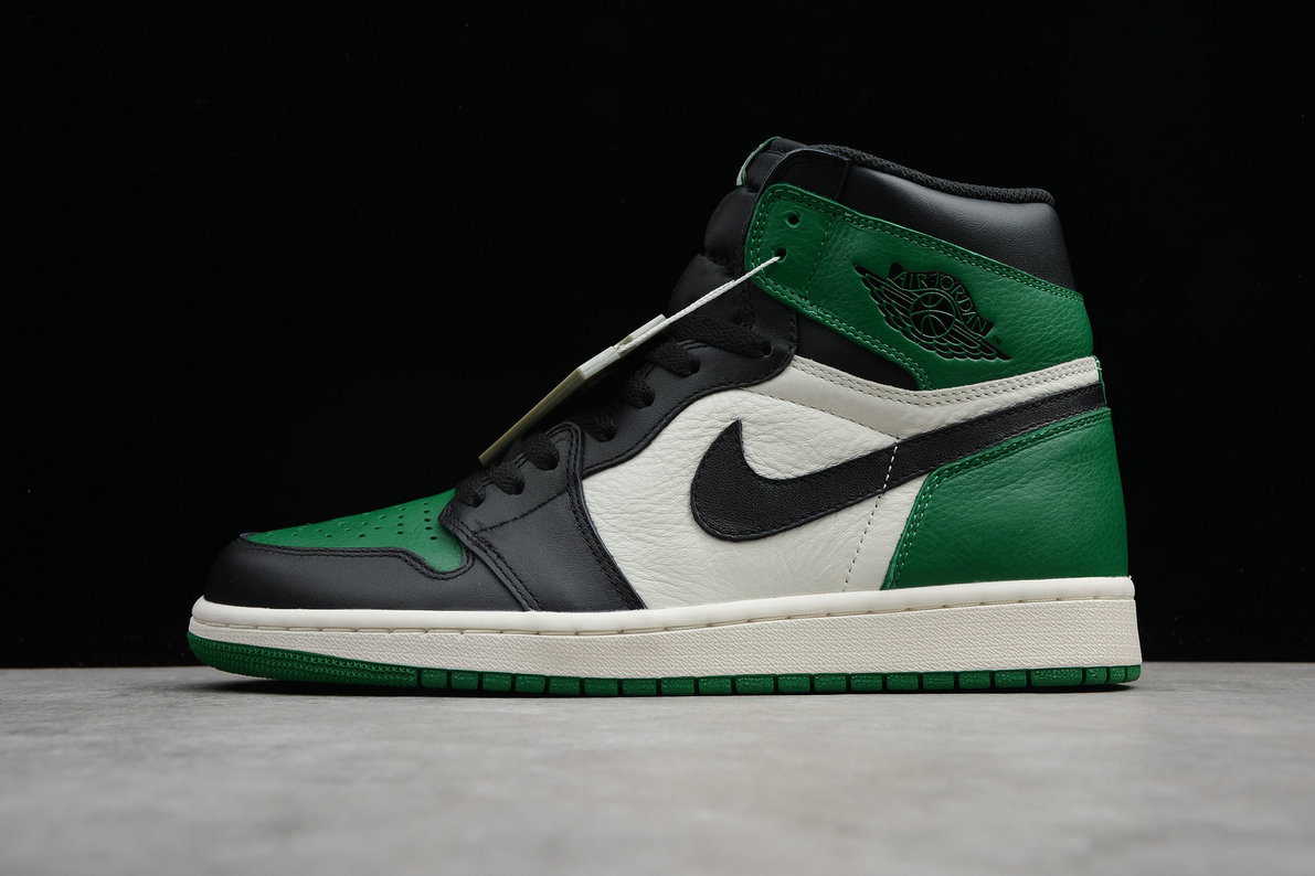 Cheap Nike Air Jordan 1 Rero High OG 555088-302 Pine Green Black Sail Vert Sapin Voile Noir