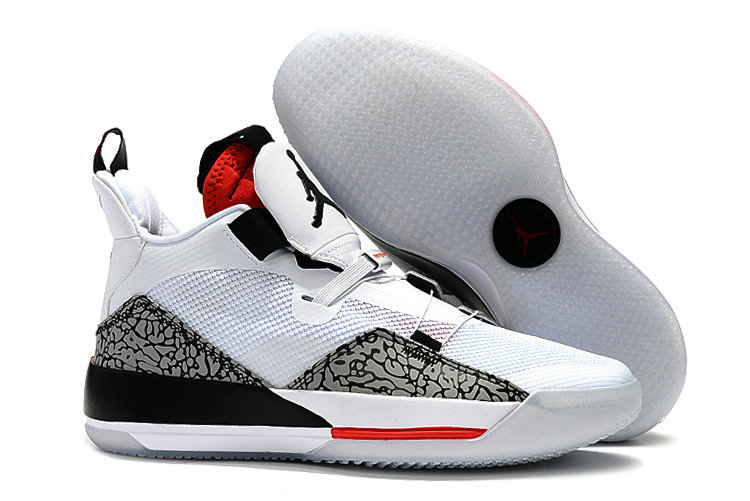 Cheap Nike Air Jordan 33 Fire Red White Fire Red-Black For Sale