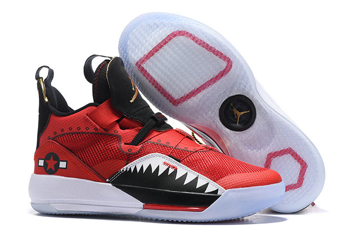 Cheap Nike Air Jordan 33 Future of Flight Red Black-White For Sale