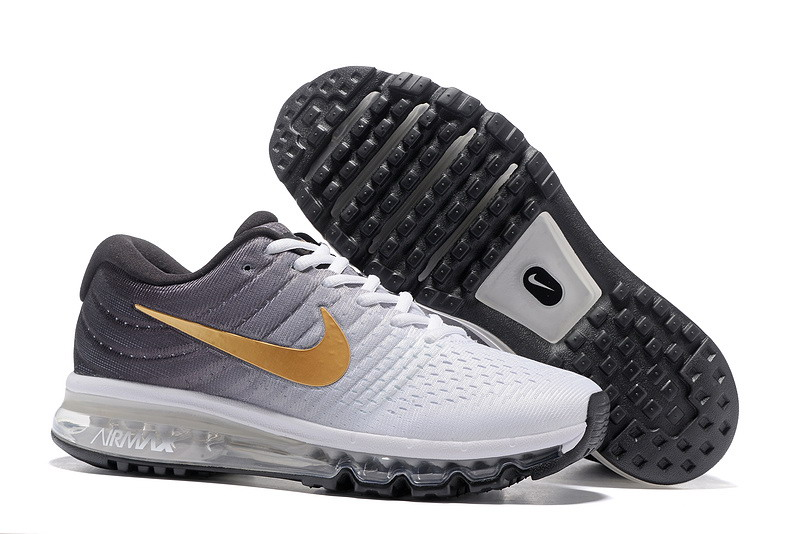 Cheap Nike Air Max 2017 Mens Gold Grey White Black Running Shoes