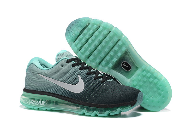 Cheap Nike Air Max 2017 Mens Grass Green Grey Black Running Shoes