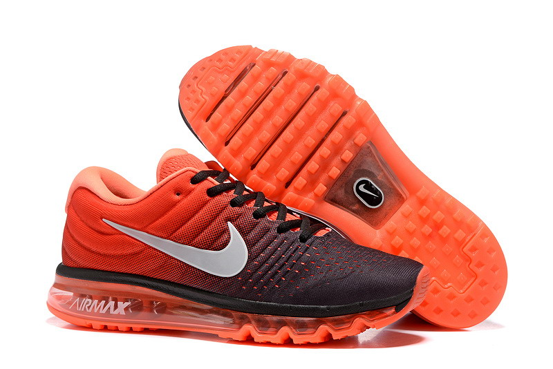Cheap Nike Air Max 2017 Mens Orange Grey Black Running Shoes
