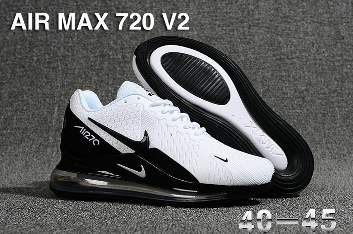 Cheap Nike Air Max 720 v2 White Black Cheap Nike Air