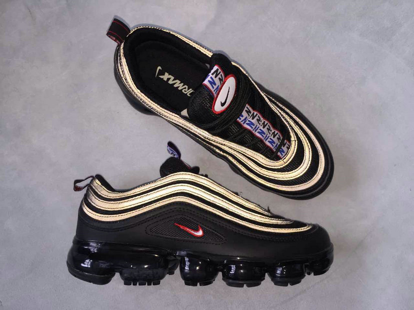 super popular aac57 85d10 Cheap Nike Air Max 97 x VaporMax Gold Black Red For Sale ...