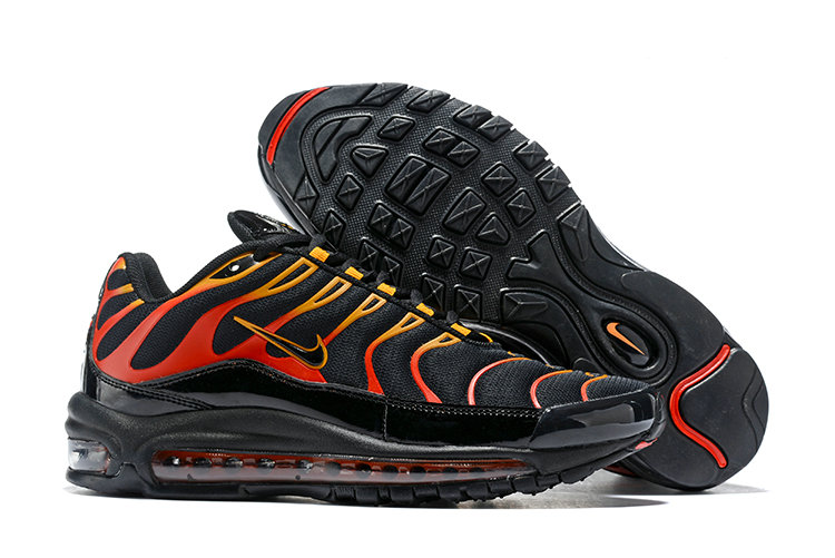 Cheap Nike Air Max Tn x Air Max 97 Mens Black Gold Red