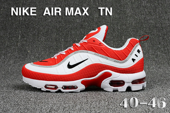 Cheap Nike Air Maxs TN OG White University Red 2019 New Arrival