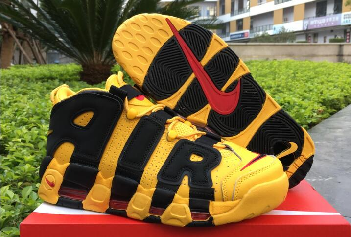 Cheap Nike Air More Uptempo Bruce Lee Yellow Black For Sale