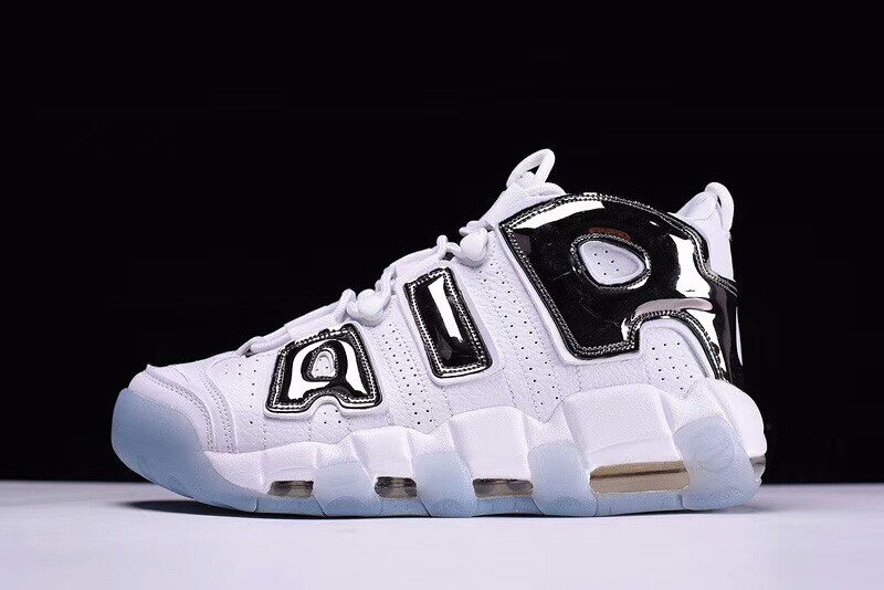 Cheap Nike Air More Uptempo Chrome White Chrome-Blue Tint For Sale