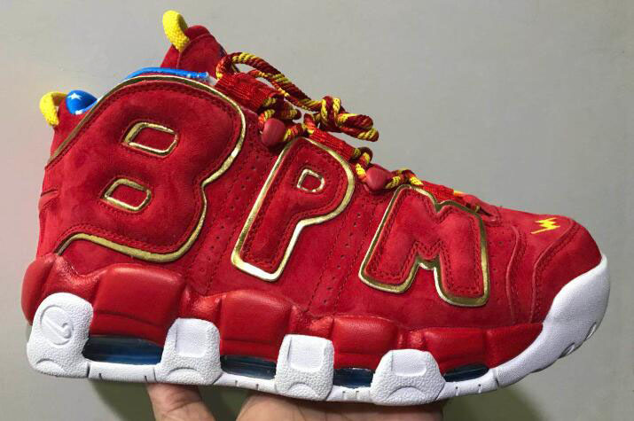 Cheap Nike Air More Uptempo Doernbecher Red Suede Gold For Sale