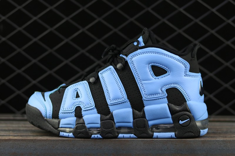 Cheap Nike Air More Uptempo UNC Black-University Blue For Sale