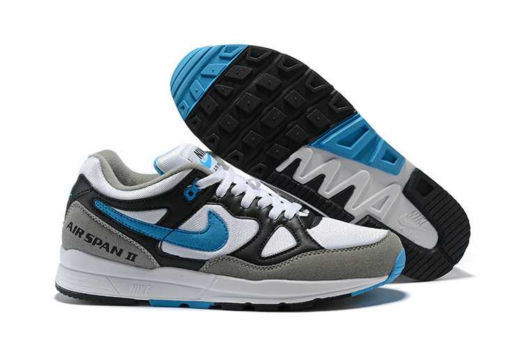 Cheap Nike Air Span II Black Grey Blue