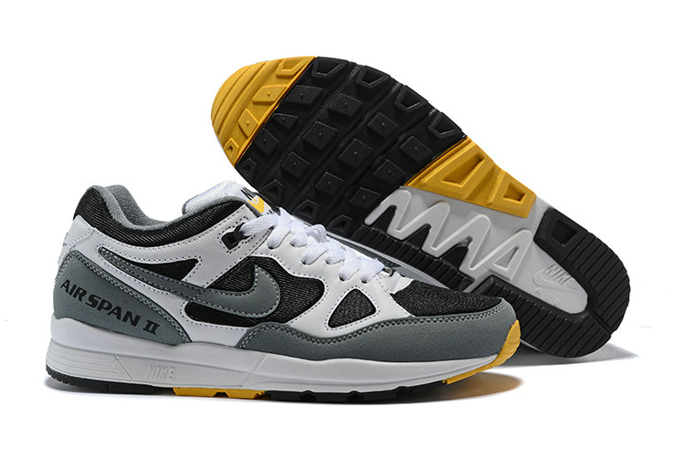Cheap Nike Air Span II Black Grey Yellow