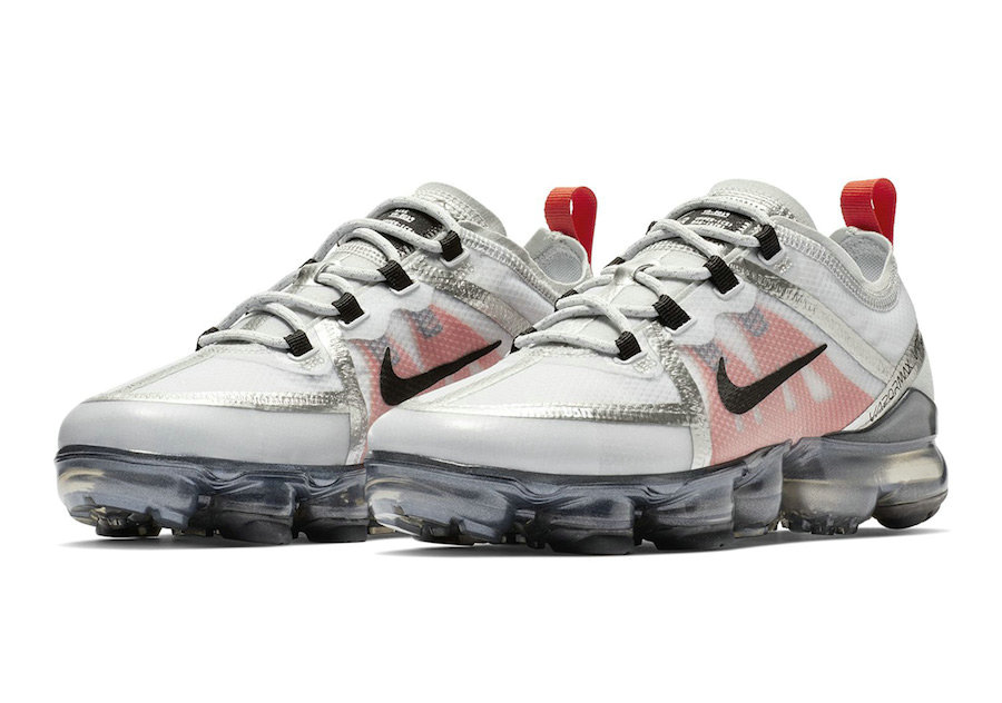 Cheap Nike Air VaporMax 2019 Premium Silver White Red Black