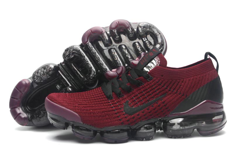 Cheap Nike Air VaporMax Flyknit 3.0 Deep Red Black Purple